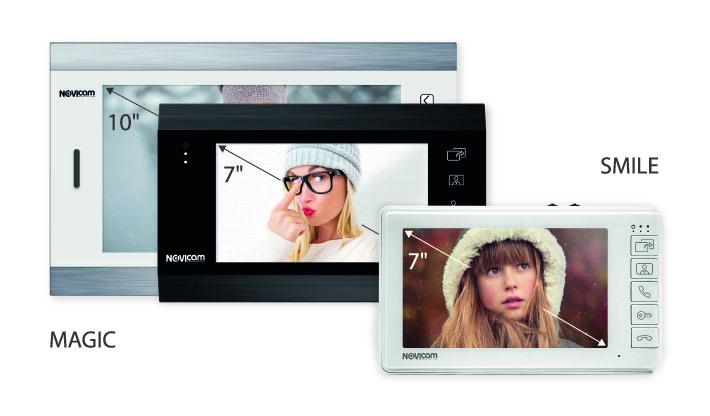 Мониторы видеодомофонов MAGIC HD и SMILE HD