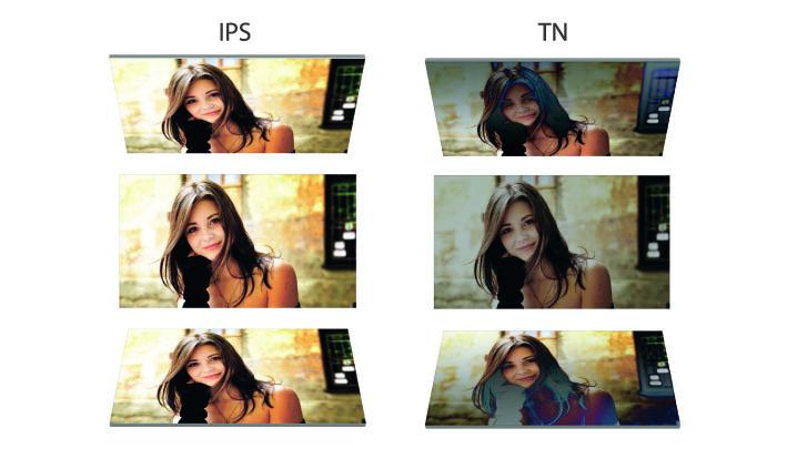 Сравнение дисплеев с IPS и TN-TFT матрицами