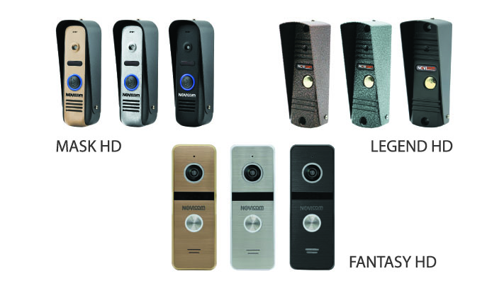 Вызывные панели LEGEND HD, MASK HD, FANTASY HD